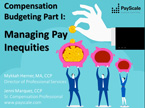 Compensation Budgeting Series
