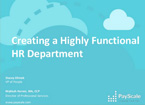 Creating a Highly Functional HR Department