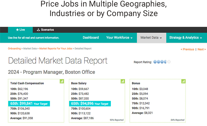 PayScale product screenshot