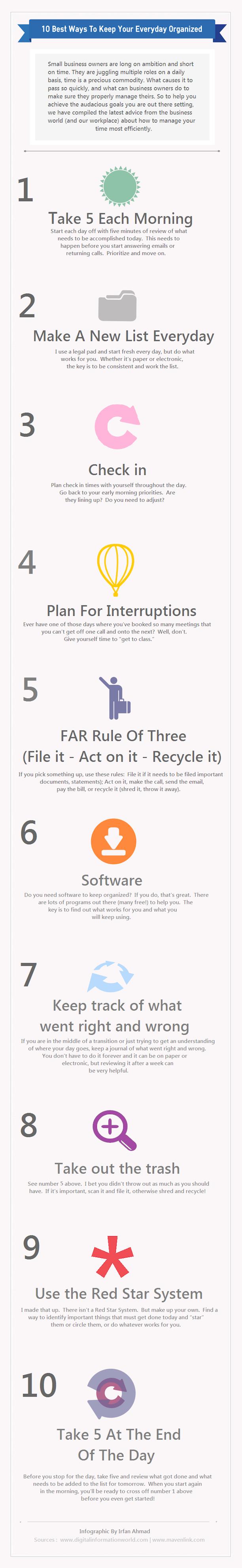 best ways to keep organized