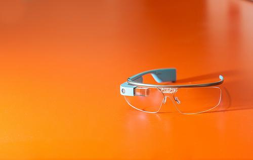 google glass on desk