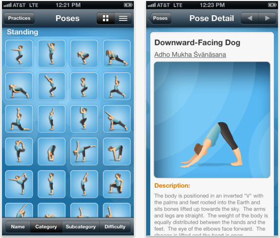 Pocket Yoga iPhone app screenshot