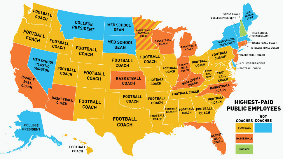 State Pay Coaches Map