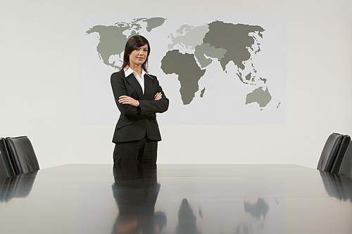 businesswoman in boardroom