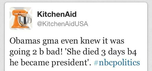 Kitchen Aid Obama Tweet