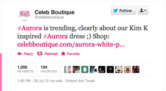 Celeb Boutique Tweet