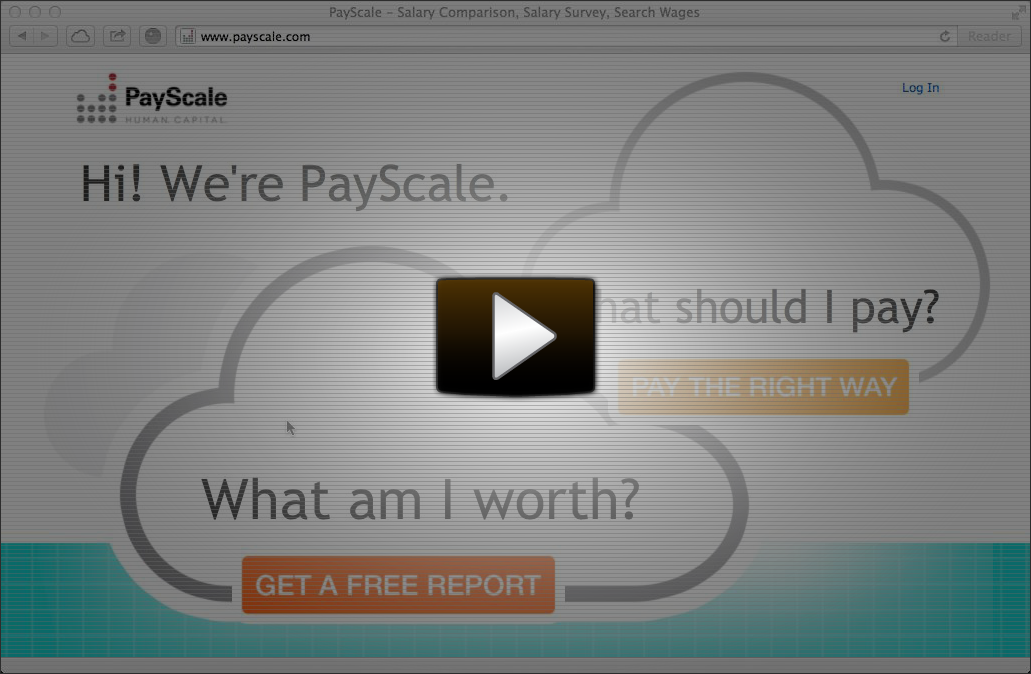 Taking the PayScale Salary Survey [Video]