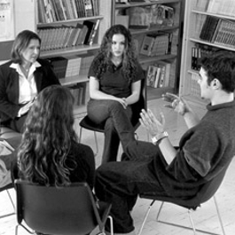 GroupTherapy by The National Institute on Drug Abuse via WikiMedia