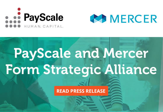 PayScale partners with Mercer