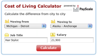 Ready to Move? Cost of Living Comparison