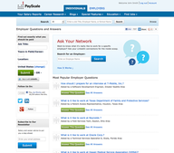New Features at PayScale -- Employer Q&A, More Employer Research, Social Integrations