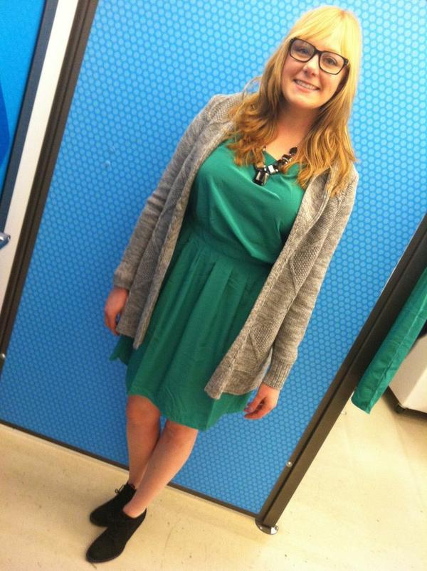 Aubrey green dress