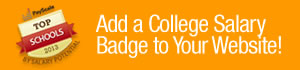 college salary report badges