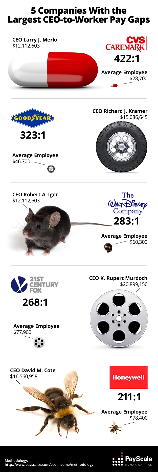 top 5 ceo income